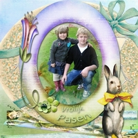 Happy Easter card for my friend Janet