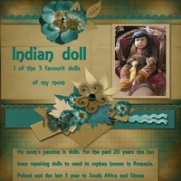 My mom`s Indian doll