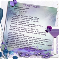 Violets syrup recipe