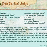 Scrappin LYB Thai Chicken Crock Pot