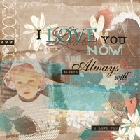 Art Journaling Challenge - Love you now