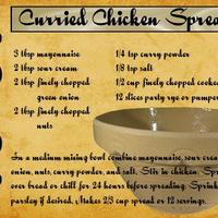 Curried Chicken Spread