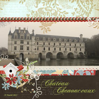Chateau Chenonceaux - Loire Valley in France