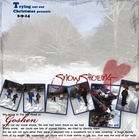 Monday Ad Challenge...Snowshoeing with K&T