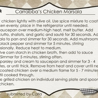 Carrabba's Chicken Marsala Part 2