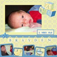Brayden 1 week old