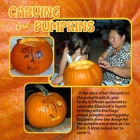 Carving Pumpkins, left