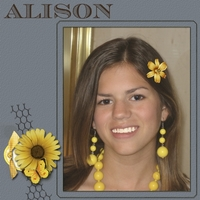 Alison with yellow beads