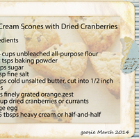 Cream Scones with Dried Cranberries