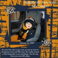 Parker's new Carseat