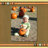 Nate at the Pumpkin Patch