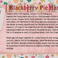 Blackberry Pie Bars- directions