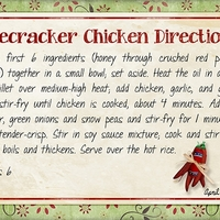 Firecracker Chicken - directions