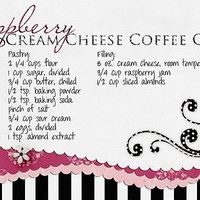 Raspberry Cream Cheese Coffee Cake - Ingredients