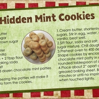 Hidden Mint Cookies