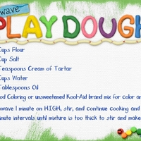 Microwave Playdough