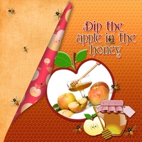 Dip the apple in the honey