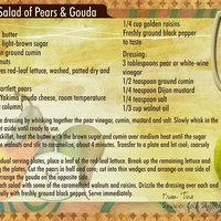 May Recipe - Salad of Pears & Gouda