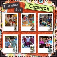 Cameron's Birthdays