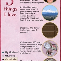 Monday Challenge Feb 6 5 Things I Love