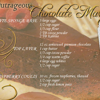 Chocolate Marquise-Ingredients