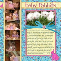 Baby Rabbits- From Simple Scrapbooks May/June 2009