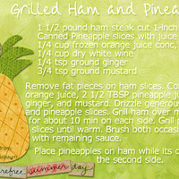 Grilled  ham and pineapple