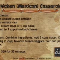 Jan - Chicken Casserole