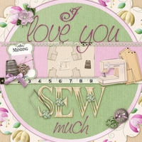 Sketch Chat - I Love You Sew Much