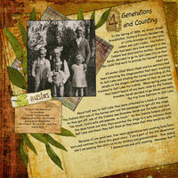 October Monthly Layout Contest - Four Generations and Counting
