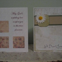 Hybrid Sympathy cards for Jane