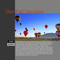 Our Fall Vacation - Albuquerque Balloon Festival