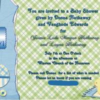 Layna Baby Shower 4x6 Invitations