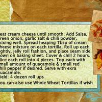 11-8-08 Tortilla Roll Ups Directions