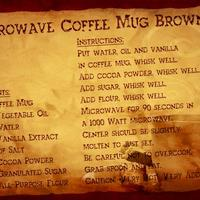 Recipe Swap - Coffee Mug Brownie
