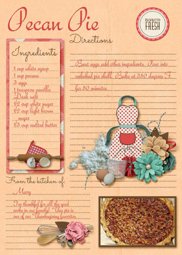 Pecan Pie recipe card