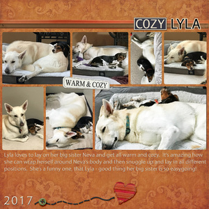 Weekend Challenge 12/2/17: Cozy Lyla