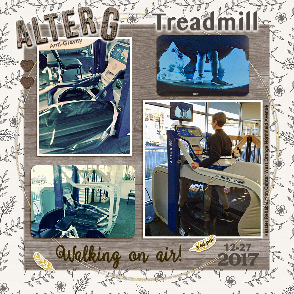 Weekend Challenge 1/7/18 Favorite POD: AlterG Treadmill
