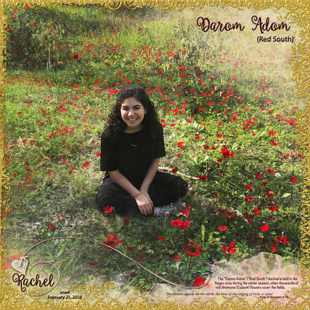Tuesday Challenge 3/20/18 Flowers: Rachel - Darom Adom