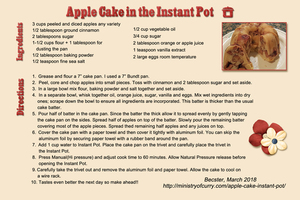 Apple Cake for the Instant Pot