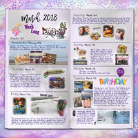 Project Life 2018 March 1 Birthday Week