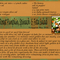 Pumpkin Feta Spinach Salad