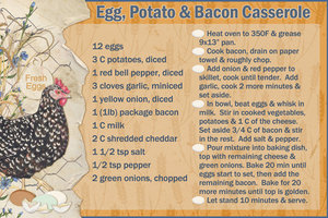 Egg, Potato & Bacon Casserole