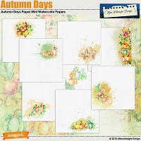 AMD Autumn Days Watercolor Papers Mini