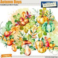 AMD Autumn Days Embellishment Mini Cluster 2