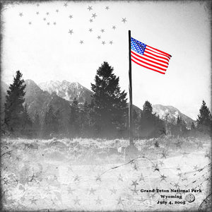 Tuesday Challenge 9/11/18 BW Color WY Flag