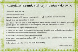 Jenrou_Pumpkin bread, using cake mix