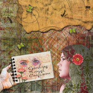 14th Anniversary - Mixed Media Challenge - Searching through Confusion