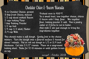 CHEDDAR CHIVE & BACON BISCUITS