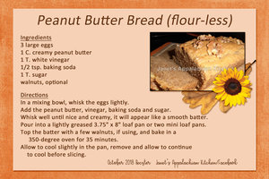 Peanut Butter Bread (flourless)